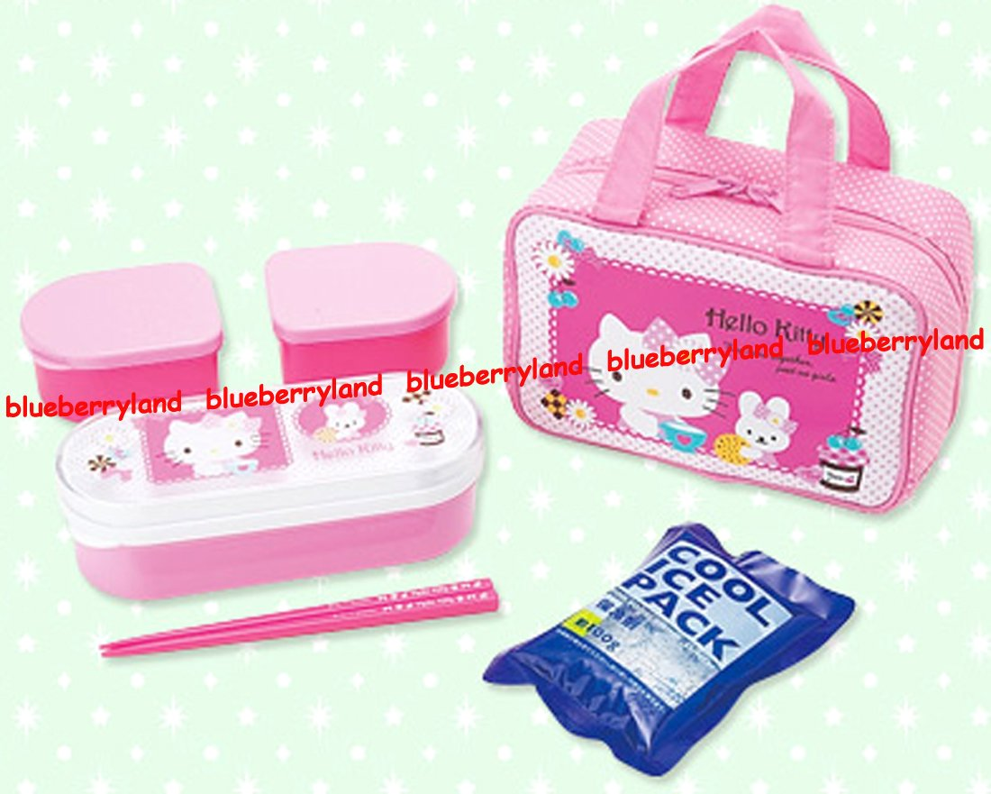 Sanrio Hello Kitty Bento Lunchbox Food Container Chopstick Bag girl ladies 011