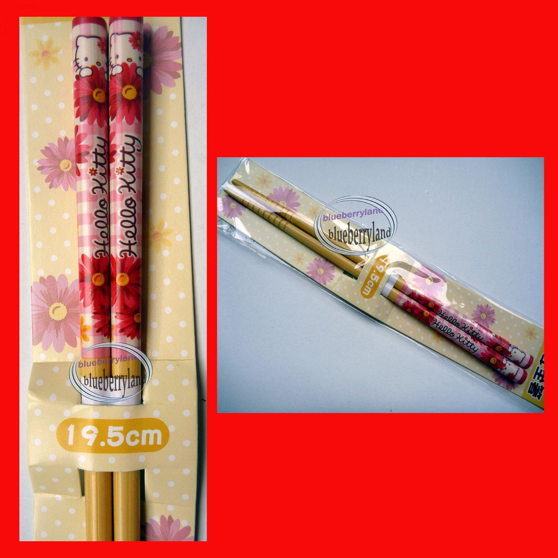 Sanrio HELLO KITTY Bento Chopsticks home cutlery pink school lunch