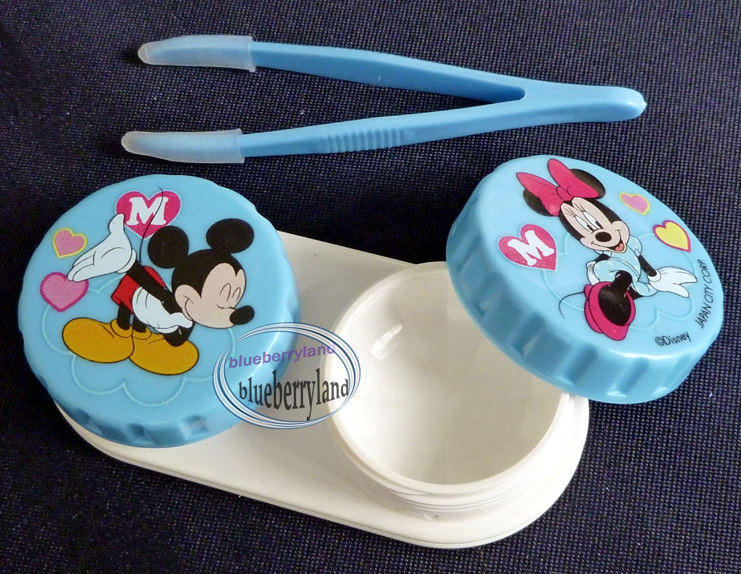 Disney Mickey Mouse Contact lens holder case set travel kit len