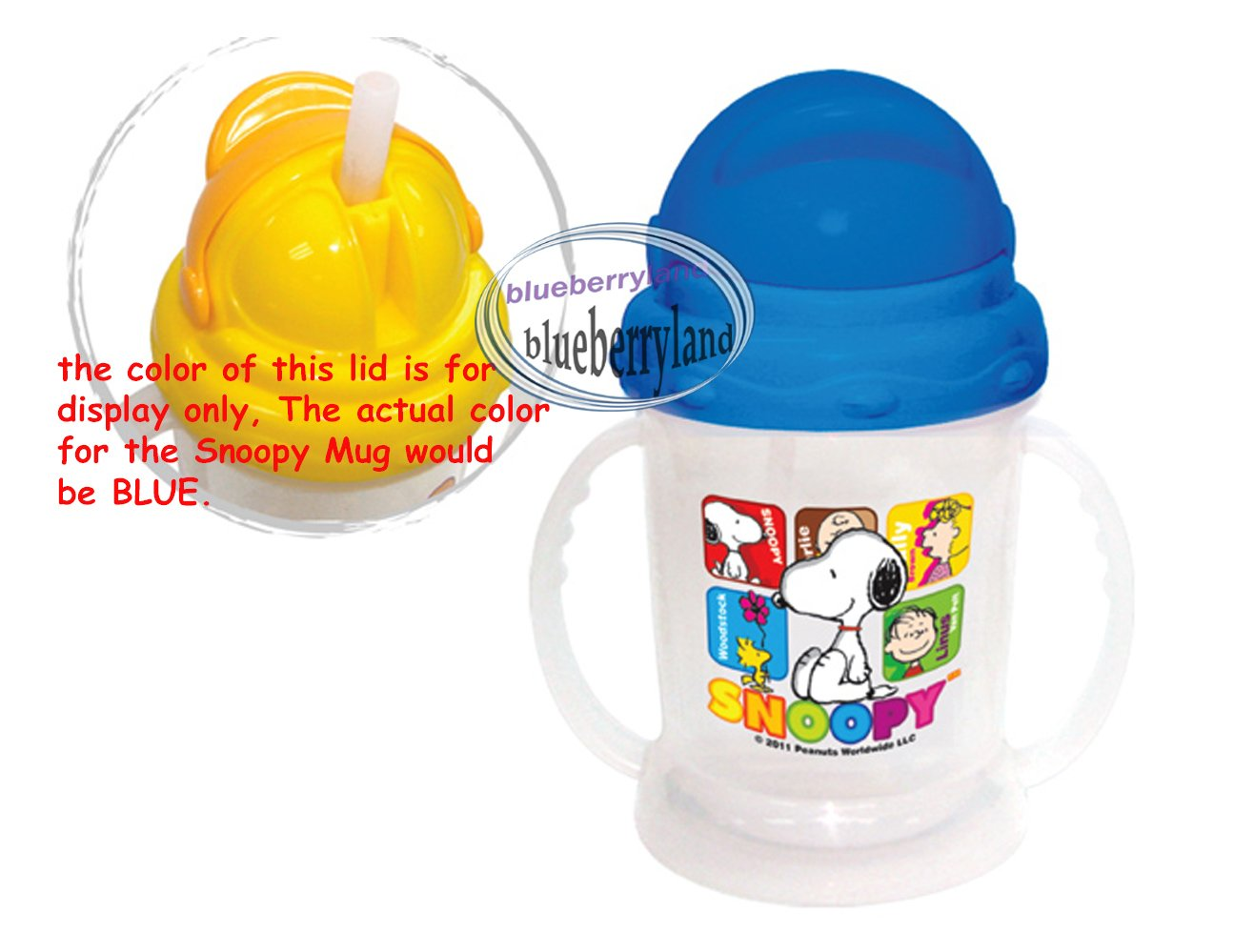 Peanuts SNOOPY Baby child MUG with Straw Cup 250ml kids child