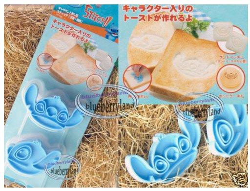 JAPAN Disney STITCH Toast Bread Mold Stamp