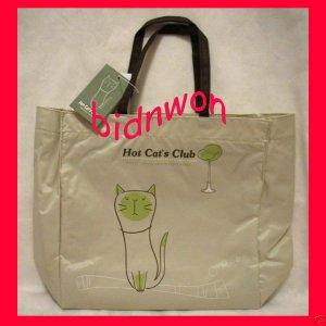 Hot Cat Club Shoulder Satchel Tote Back to School Bag Weekend Shopping Purse SM