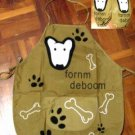 English Bull Terrier Dog Apron & Sleeves Set