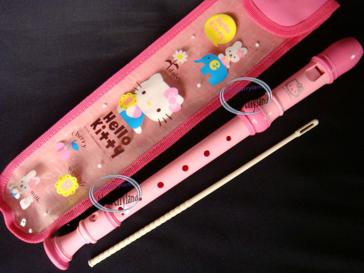 Sanrio Hello Kitty Flute Musical Instrument Recorder Pink