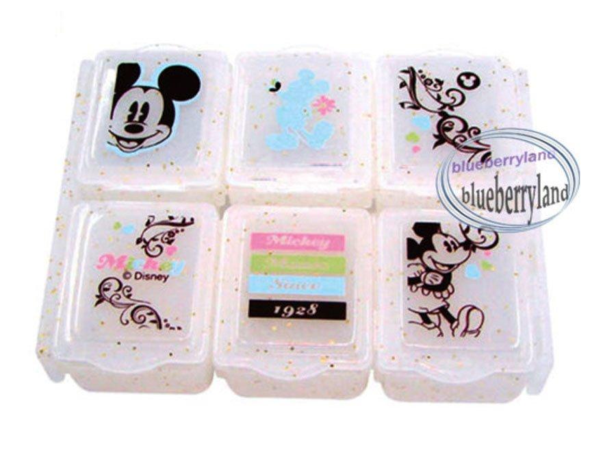 Disney Mickey Mouse Pill Case Box holder dispenser keeper organizer