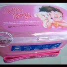 Japan Betty Boop Microwavable Two-tiered Bento Lunch Box Food Container Chopsticks Strap Set