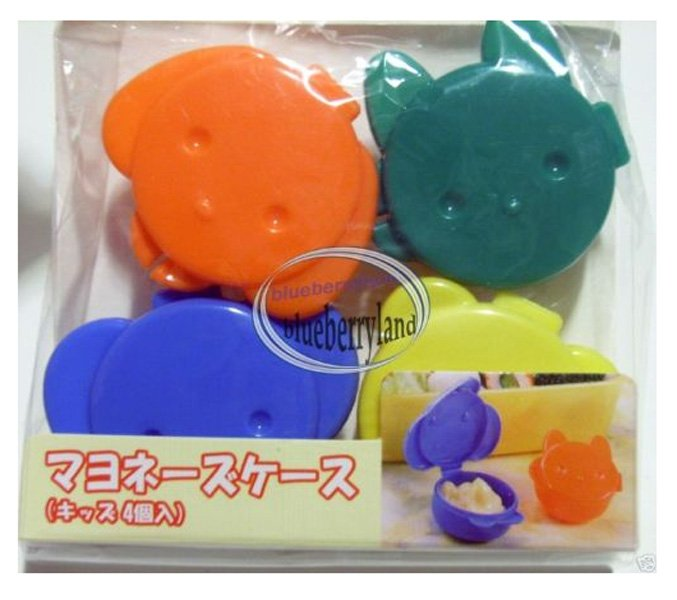 4 Pcs Bento Animal Sauce Cups cup Case Accessories
