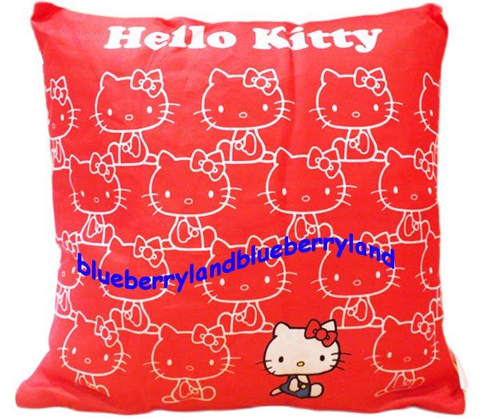 Sanrio Hello Kitty Soft Square Cushion Cuddle Bedroom Pillow Office Car Seat 40 x 40cm