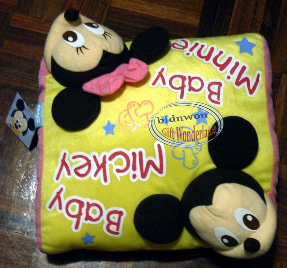 Disney Mickey & Minnie Mouse Cushion Soft Square Cuddle Bedroom Pillow Office Car Seat