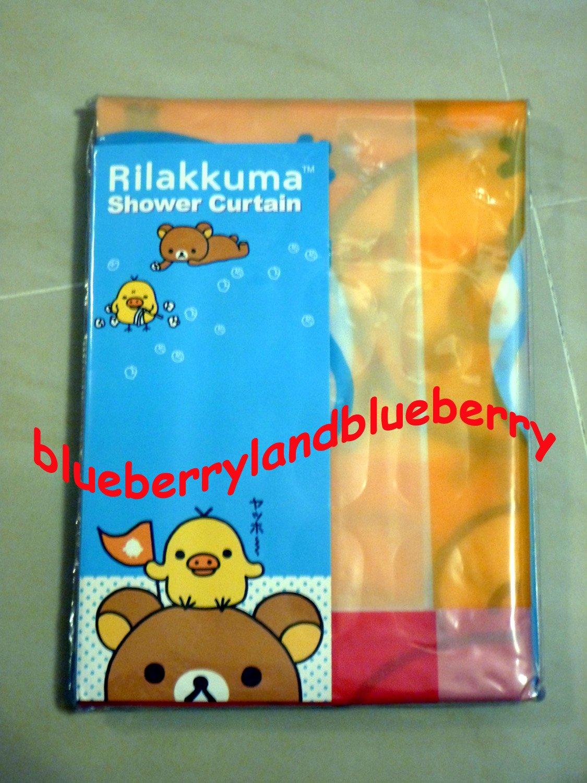 San-X Rilakkuma SHOWER CURTAIN 180 x 180cm bath bathroom accessories ring  household 50f216d52