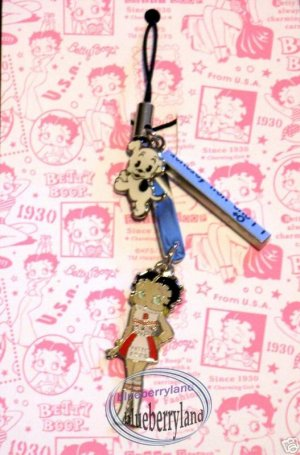 Betty Boop & Pudgy Cell Mobile Phone Strap charm DC