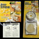 Japan 2 Way Egg Slicer Cutter Mold FLOWER EDGES SLICES bento