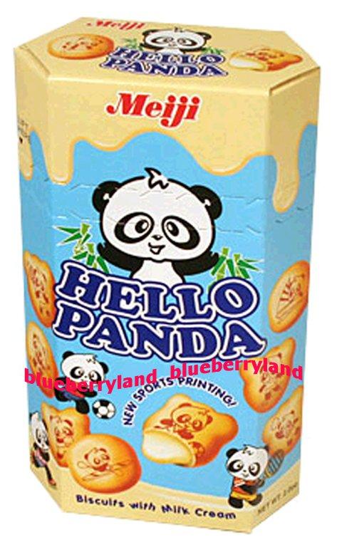 Japan Meiji Hello Panda Milk Cream Biscuit Snack Cookie