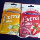 Wrigley`s Extra Zylitol Strawberry / Melon flavor Menthol Sugar-free Gum x 2 Packets