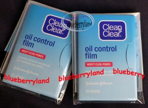 Japan 120 Sheets Clean & Clear Oil Control Film Absorbent Blotting Paper