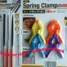 Japan 3 Pcs Set Precision Files needle file set repair hobby craft tool & 4 Pcs Set Spring Clamp