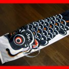 Classic Japanese KOI CARP FISH windsock kite / Nylon with Wire Mouth BK