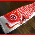 Classic Japanese KOI CARP FISH windsock kite / Nylon with Wire Mouth RD