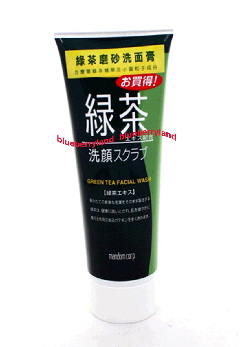 Japan Mandom Green Tea Cleansing Face Wash Scrub natural facial skin care 100g