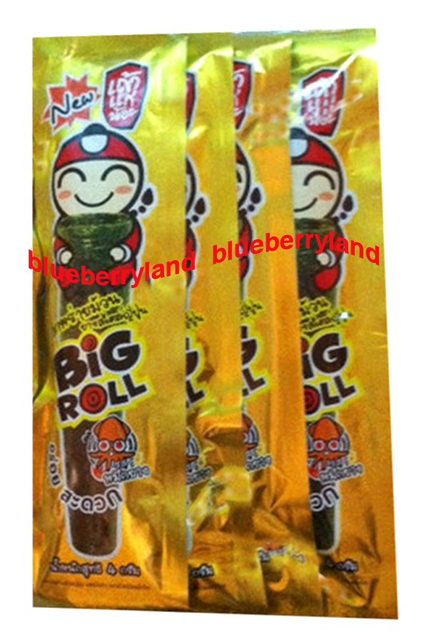 Japanese Style Tao Kae Noi 8 Fried Crispy Seaweed Snack Hot Chilli Squid Flavor kid snack