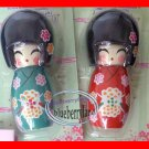 Japanese Kimono Wooden Doll Decoration Set
