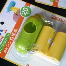 1set Portable Case + 2 Rolls (40pcs) Dispenser Pet Dog Waste Poop Bags Holder