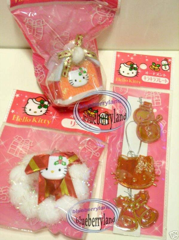 Sanrio HELLO KITTY Christmas Tree Decoration Ornament set