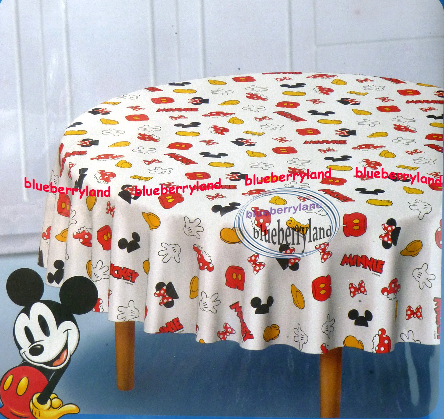 Disney Mickey Mouse Polyster Table Cloth Round 60 X 60 Quot Home
