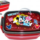 Disney MICKEY MOUSE Red Bento Lunchbox Food Container lunch box set kitchen ladies Q2