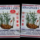 Indonesian Sina Ginger Candy Ting Ting Jahe Chewy Foil Wrapped 9 pcs pack
