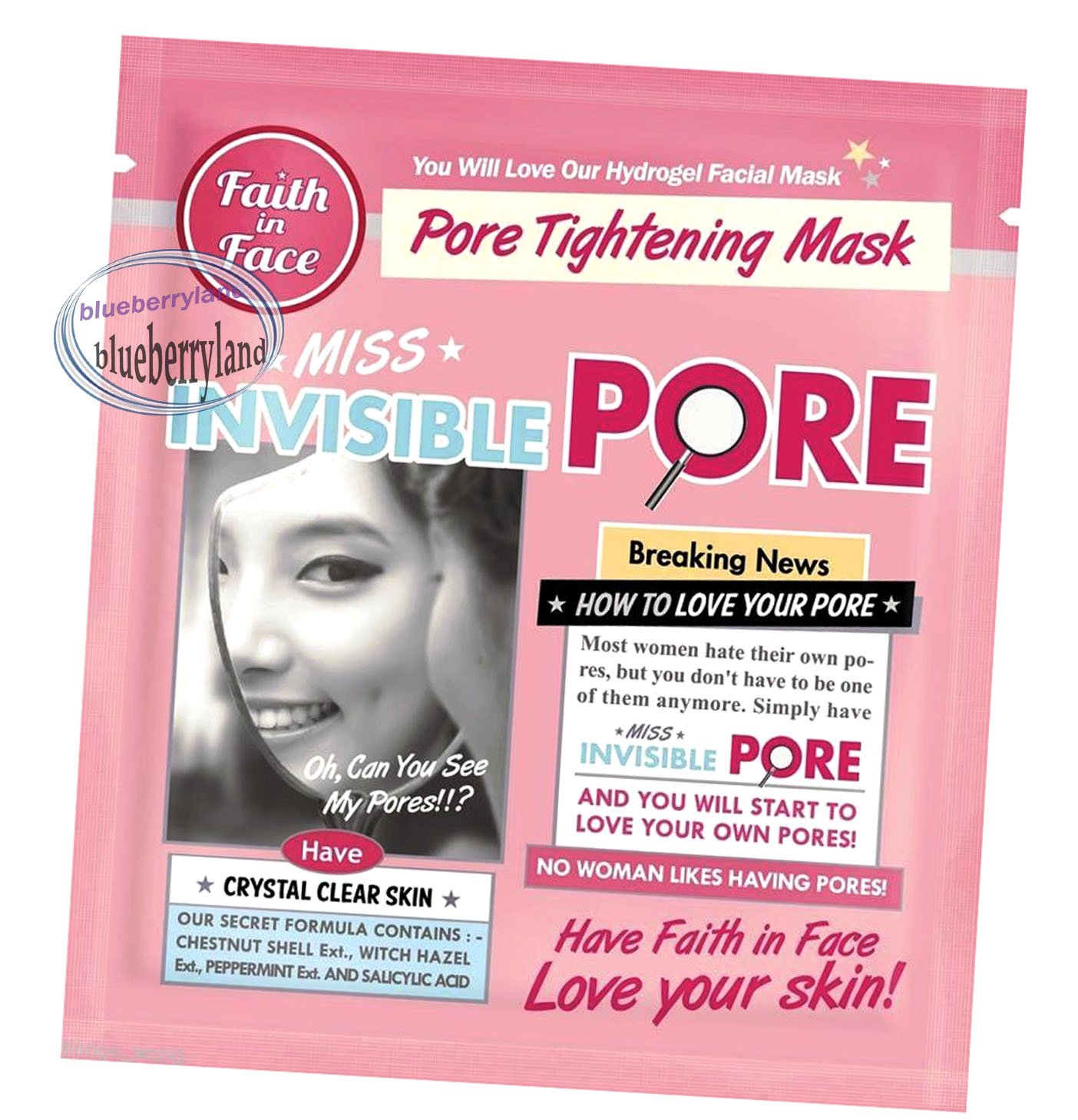 Faith in Face Miss Invisible Pore Hydrogel Mask 3 sheets
