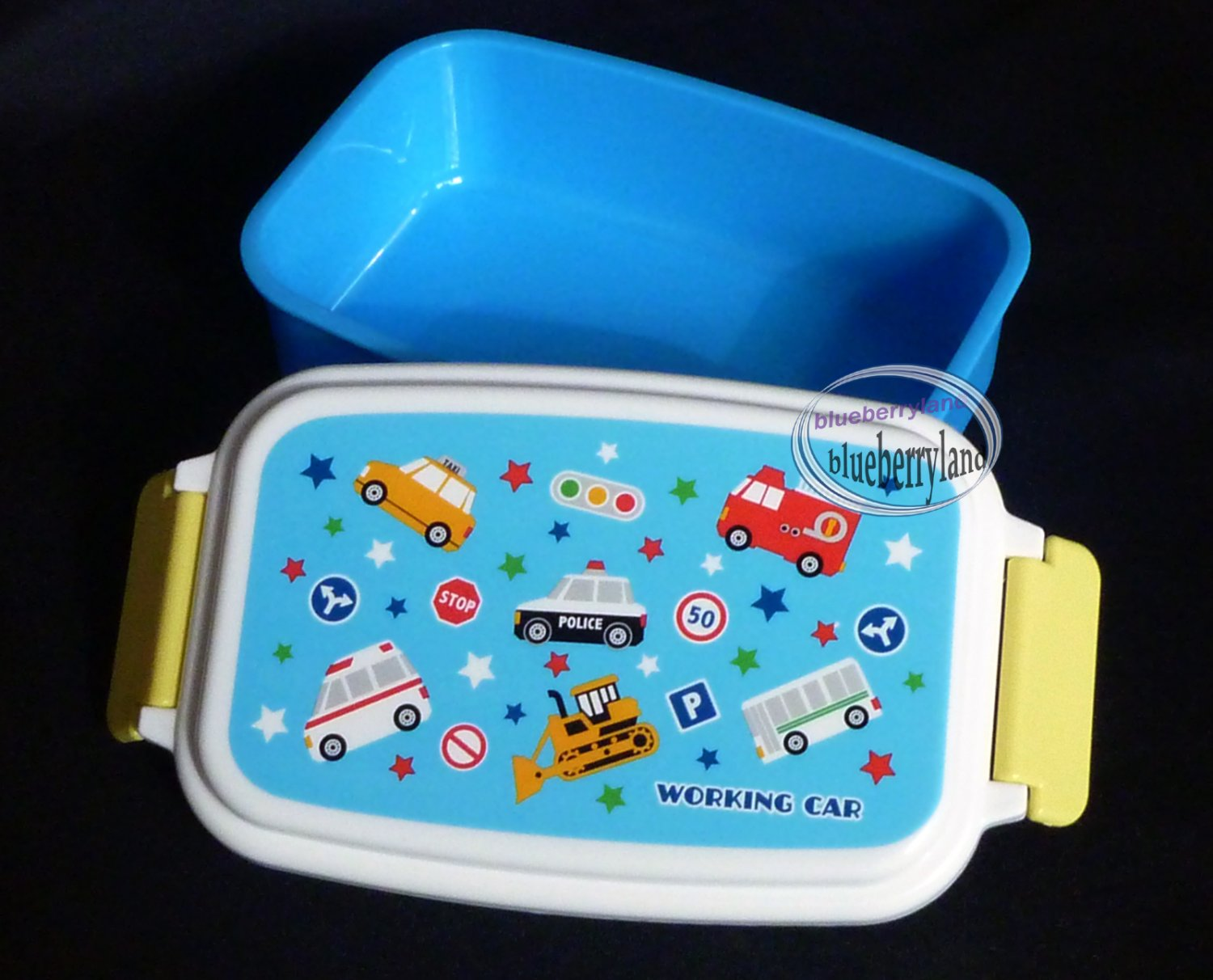 bento lunchbox food container kids school girls lunch box snack case blue. Black Bedroom Furniture Sets. Home Design Ideas