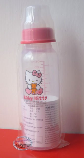 Sanrio HELLO KITTY Baby bottle 240ml milk juices BPA free