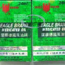 2x EAGLE BRAND MEDICATED OIL 24ML PAIN RELIEF ~ SINGAPORE
