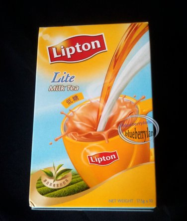 LIPTON Instant 3in1 Milk Tea Mix 10 beverages Lite mixed powder instant drink home office