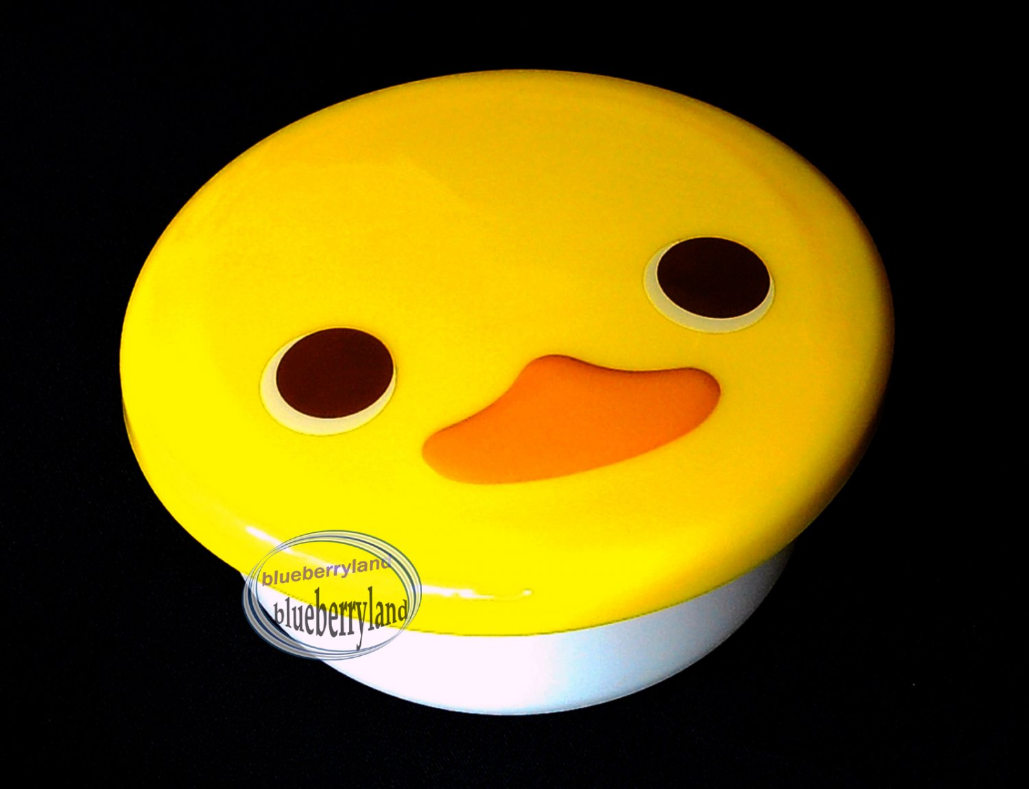Japan Yellow Duck Face Die-Cut Snack Food Bento Box Container Case BABY snacks kids