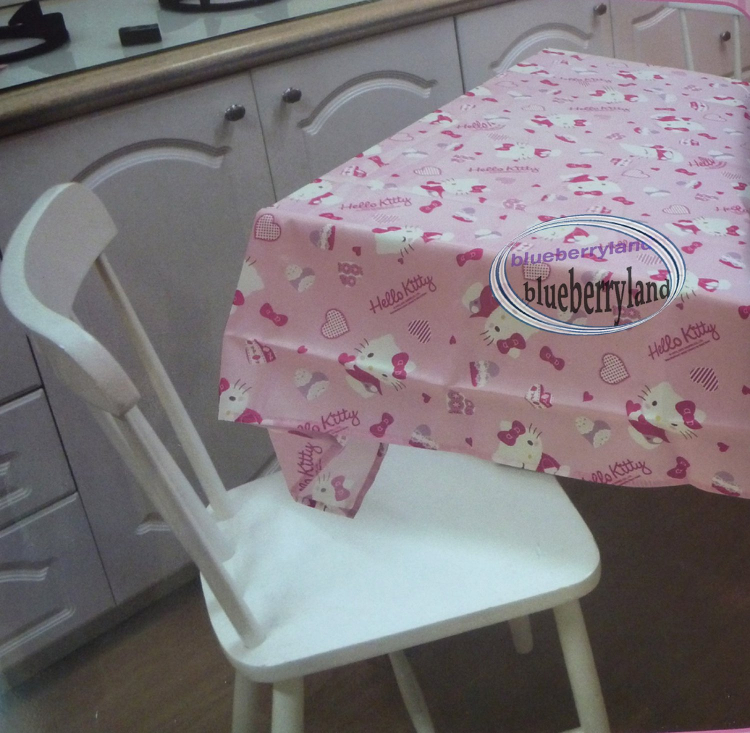 Sanrio HELLO KITTY Table Cloth dining table kitchen 52 x 52 inches