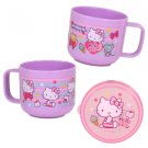 Sanrio HELLO KITTY BPA free Plastic Cup with Handle & Lid kids child Mug Q5