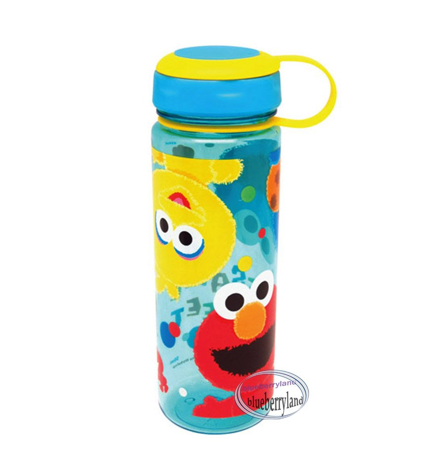 Sesame Streets Water Bottle drink Container 450ml outdoor school Q15