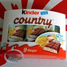 Ferreo Kinder Country Cereals Milk Chocolate Bars 9 Pcs sweet candy snack