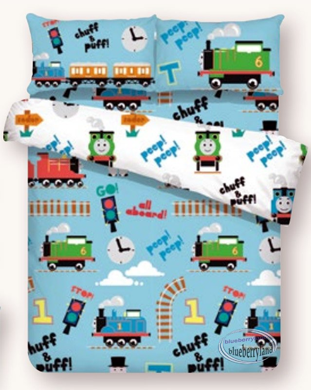 Thomas & Friends Bedding Set Double size Quilt Cover Fitted Sheet 4pcs set