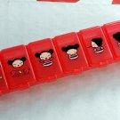 2 Pcs Pucca Pill Case Box holder dispenser keeper organizer 7 slots Q3