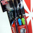 Colgate Charcoal Bristles Deeper & Gentle Clean Toothbrush 0.01mm slim soft 3pcs Set oral