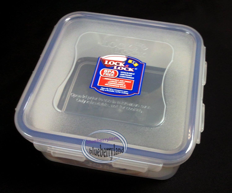 Lock & Lock Plastic FOOD STORAGE SANDWICH Square CONTAINER LUNCHBOX BPA FREE 600ML / 20OZ