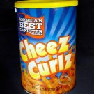 America's Best Canister Cheez Curlz crunchy cheese flavored curl stick Snack 120.5g