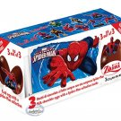 Zaini Spiderman Chocolate Surprise 3 Eggs With Toy Figure Inside choco kid boy girl