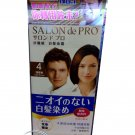 Japan Salon de Pro Hair Color Cream Type Kit # 4 Light Brown