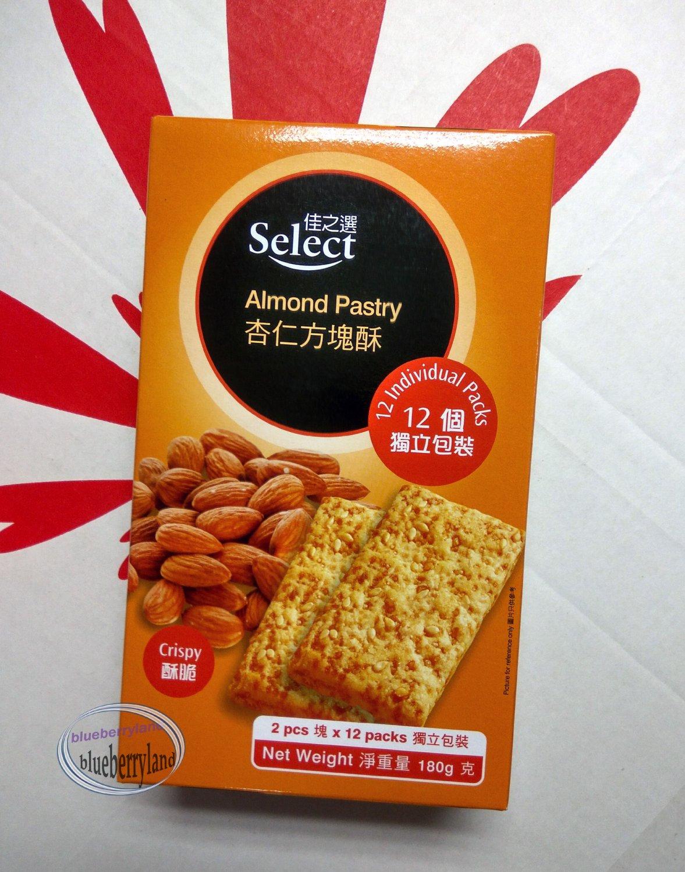 Select Almond Pastry crispy snack pack biscuit cookies treats ladies