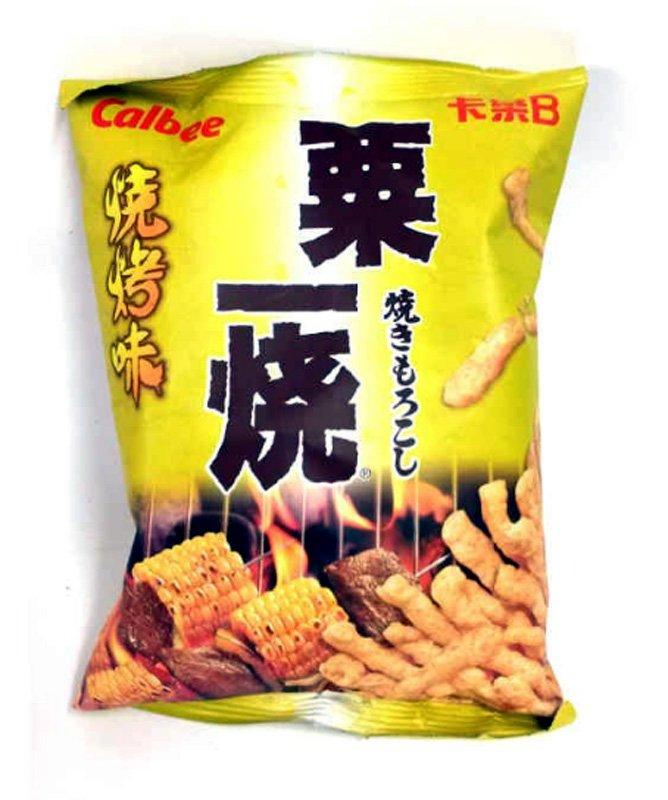 Calbee BBQ Flavoured Grill-A-Corn Corn Sticks Snacks TV movie games Snack 6 Bags