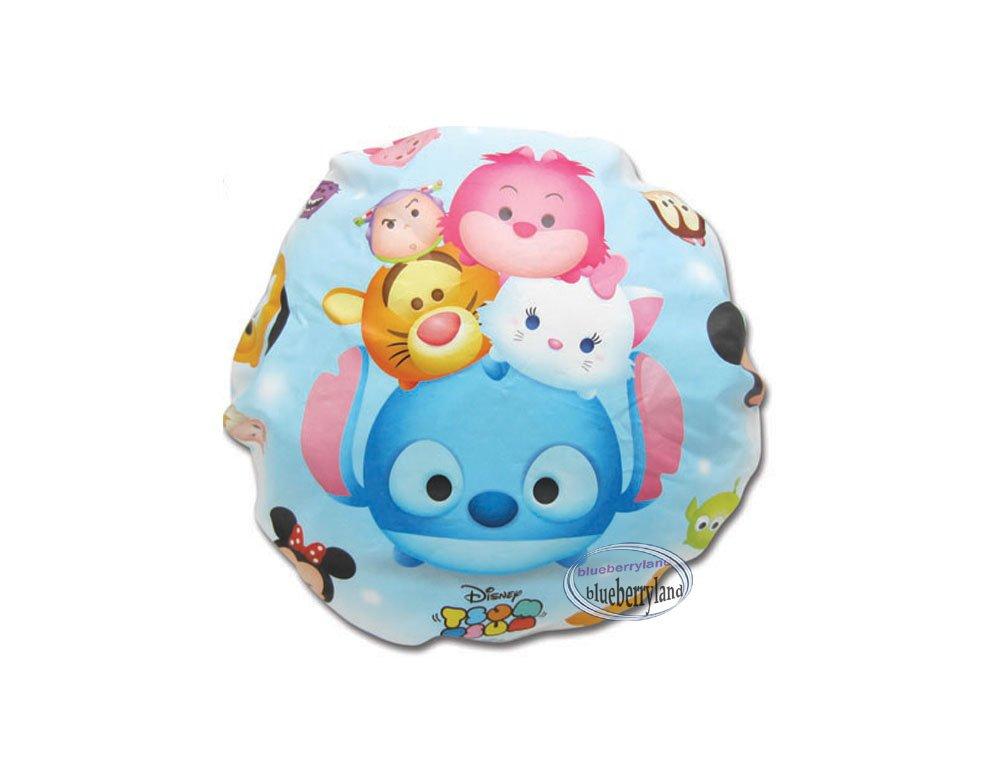 Disney TSUM TSUM Blue Shower cap hat for adult children bathroom bath accessories ladies girls